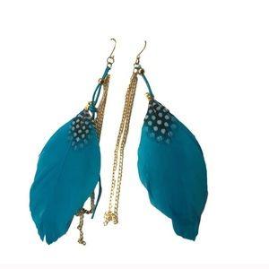 Dangling Feather Earrings